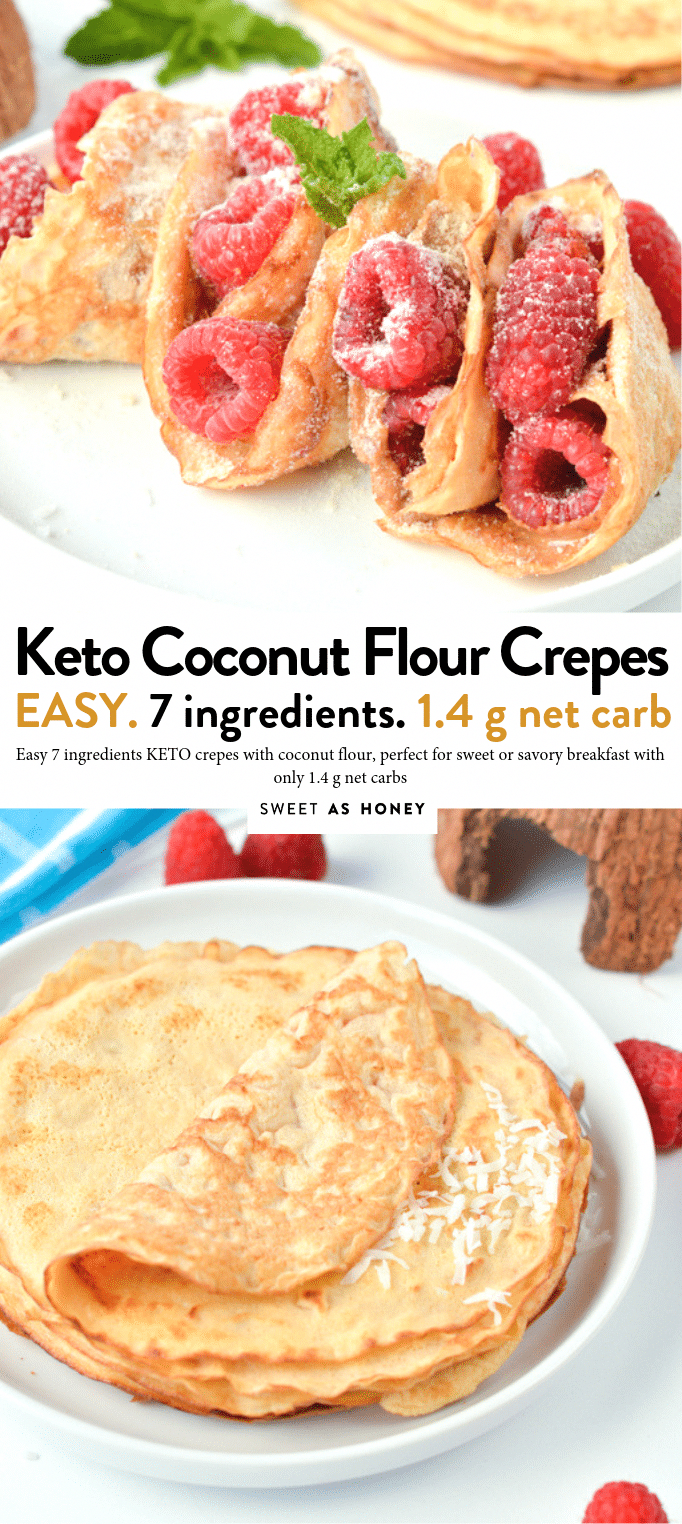 KETO COCONUT FLOUR CREPES are easy low carb breakfast or