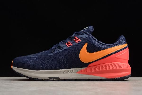 df7ffcabf7c9 Nike Air Zoom Structure 22 Blackened Blue Orange Peel AA1636-400 ...