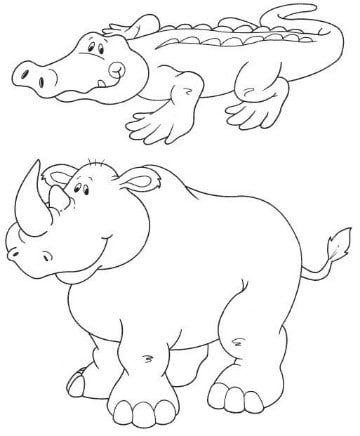 Dibujos De Animales De La Selva Para Colorear Animales De La Selva Dibujos De Animales Dibujos