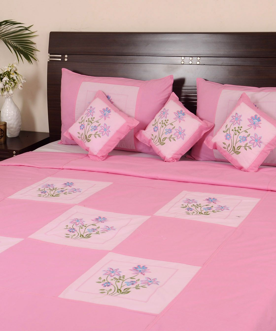 Ribbon embroidery bedspread designs - Hand Embroidery On Bedsheets Google Search