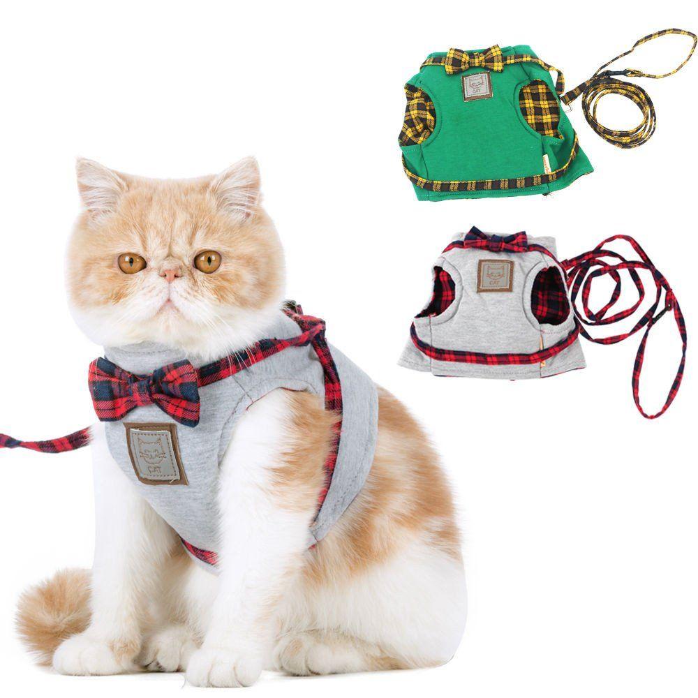 Elegant Gentleman Lady Cat Safety Harness Cat Harness Cat Leash Cat Collars