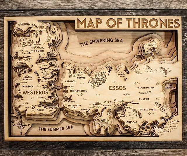 Game Of Thrones 3d Wood Map I Need A Glowforge Game Of