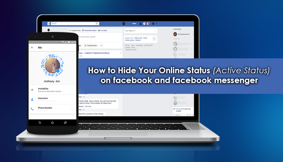 How To Hide Your Online Status Active Status On Facebook And Facebook Messenger Desktop And Mobile Facebook Messenger Online Messenger
