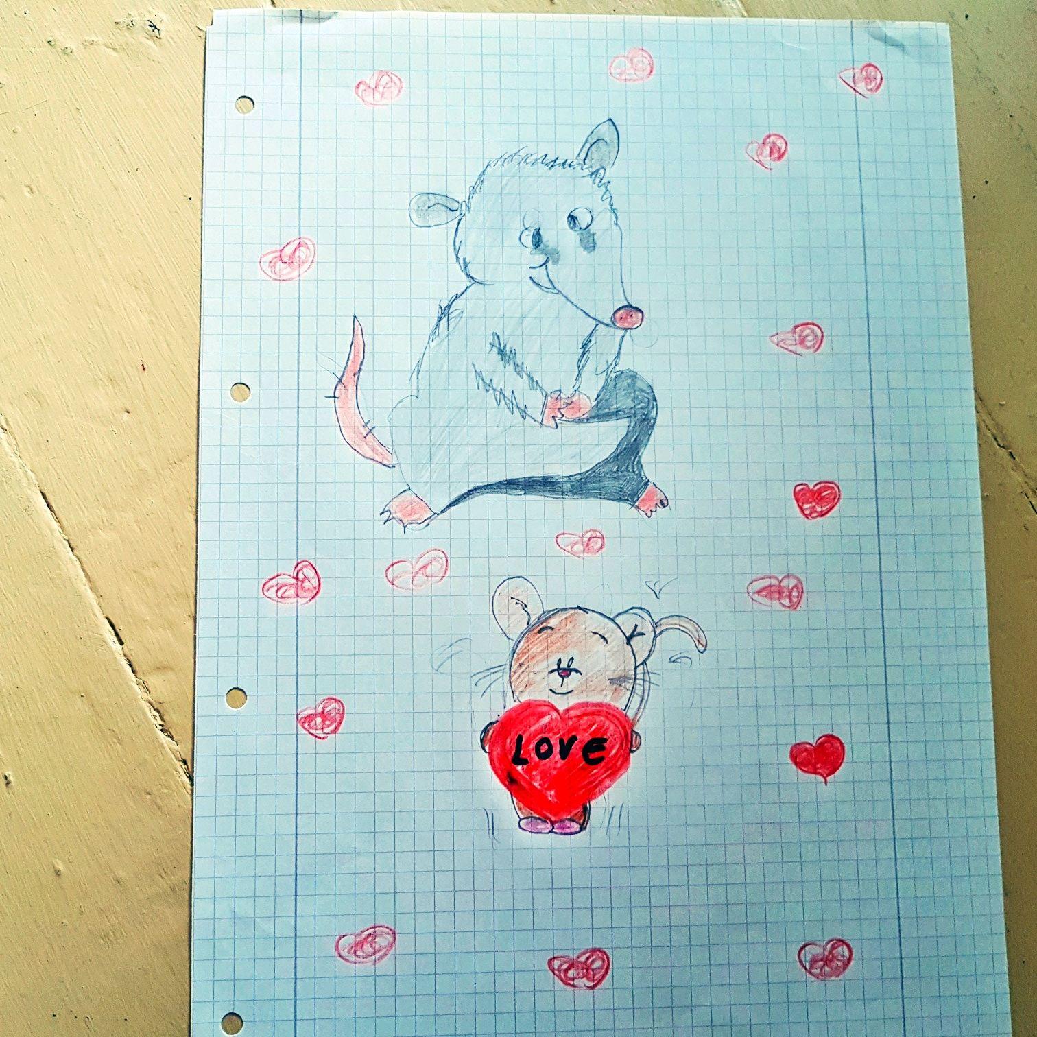 Meine Zeichnung Maus
