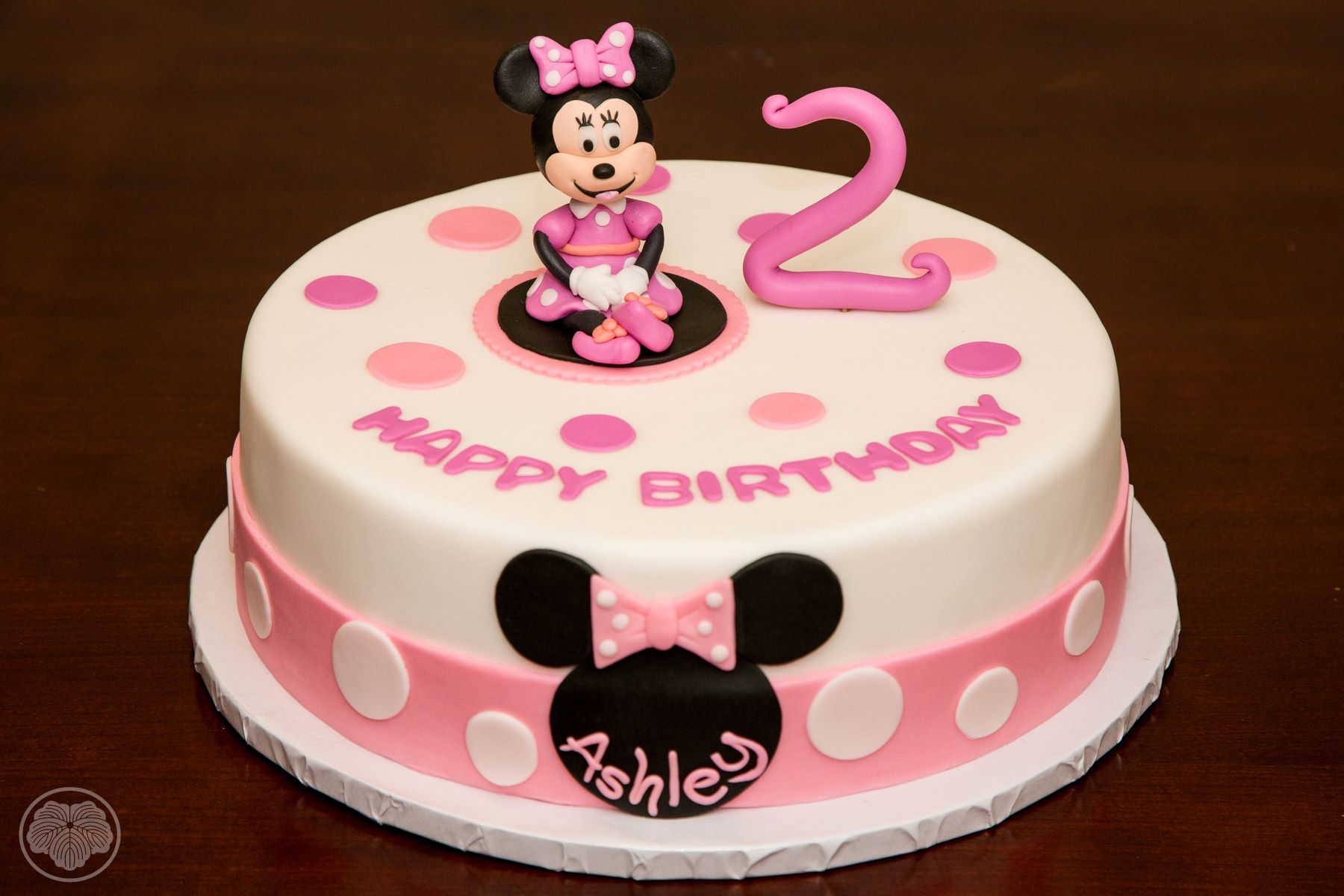 Tremendous Minnie Mouse Birthday Cake For Two Year Old Minnie Mouse Funny Birthday Cards Online Elaedamsfinfo