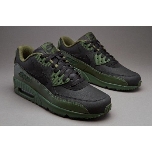 91167b836b ... Nike Air Max 90 Premium Carbon Green Black Mens Shoes ...