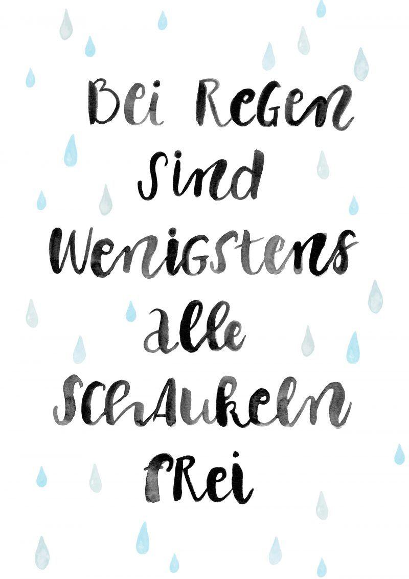 Portfolio Regen Spruche Worte Zitate Und Lettering