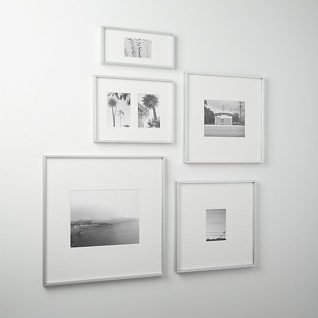 brushed aluminum frames an xl white mat for gallery presentation of photos or images live in large square aluminum and glass white mat display alone