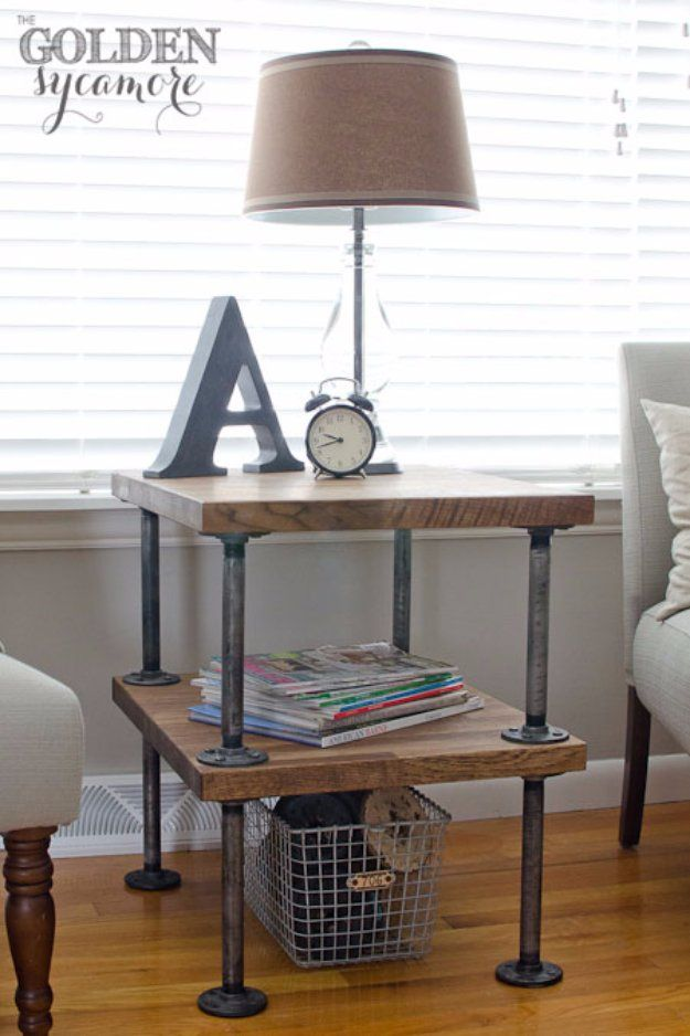 Storage End Tables For Living Room. 31 DIY End Tables  Pallet crates Wood storage and Room decor