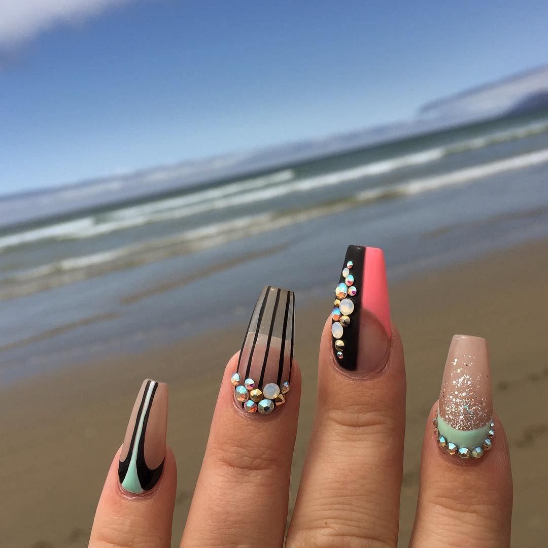 Coffin Nails | Nail styles | Nail art | MUA.AshleyRenea - Hair and ...