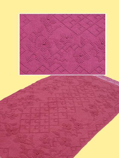 Wildwood Flower afghan crochet pattern. Classic design of diamonds ...
