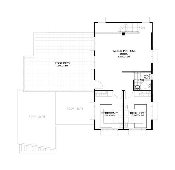 Double Story House Plan With 4 Bedrooms 3 Bathrooms Classic Design Myhomemyzone Com Free House Plans House Plans Best House Plans