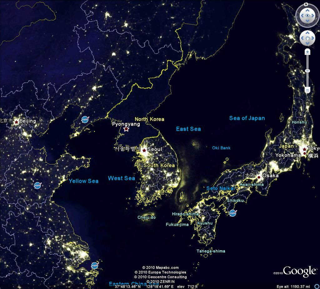 Night time from above  south east asia | South Korea :D in 2019