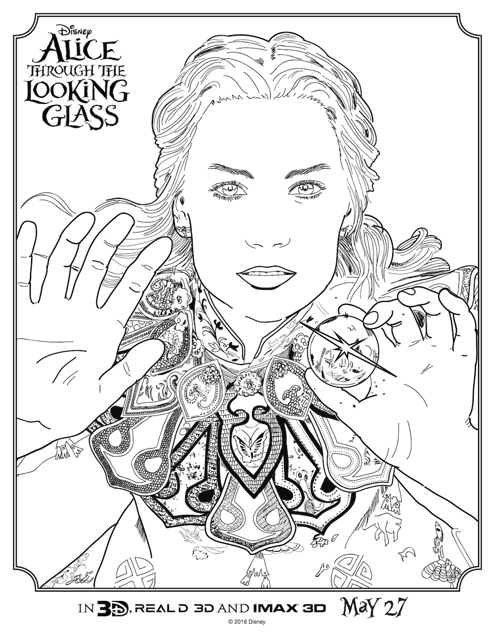 Disney\'s Alice Through the Looking Glass Activity Sheets
