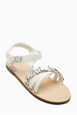 1af922703d52 White Butterfly Sandals (Younger Girls)