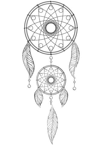 Acchiappasogni disegno da colorare printables dream for Acchiappasogni disegno