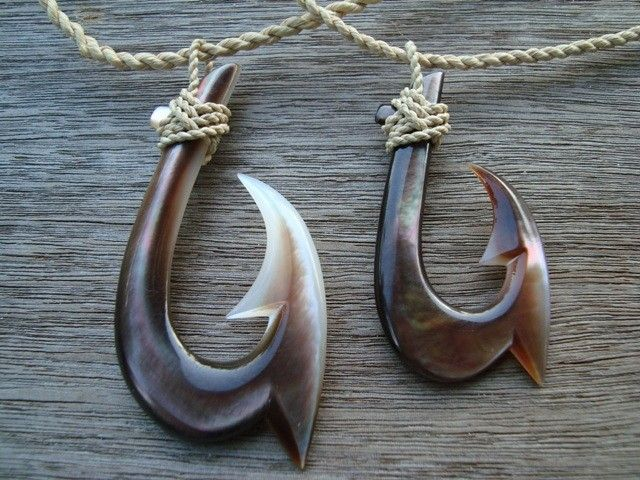 Polynesian Fish Hook Necklaces