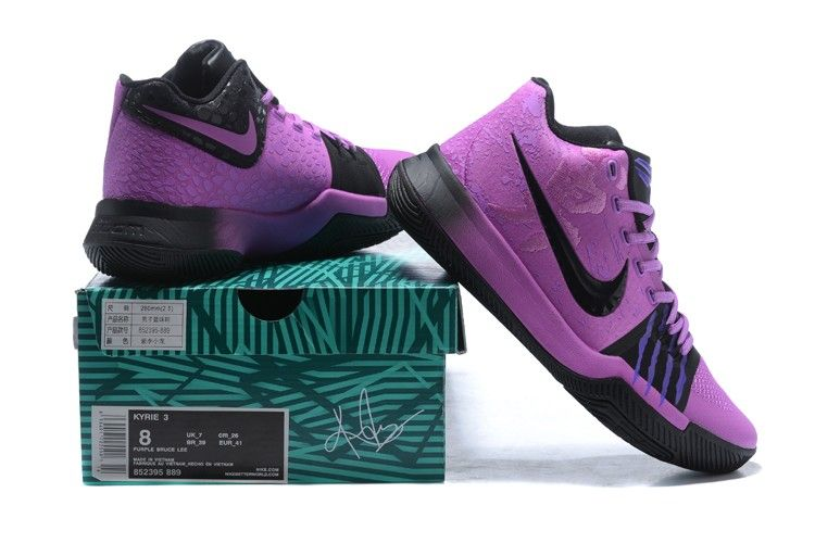 e49e4790db9c Nike Kyrie 3 Purple Black For Sale