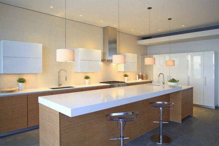 plan de travail cuisine en blanc quartz ou corian - Plan De Travail Cuisine Corian