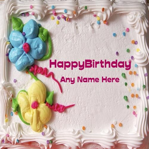 Happy Birthday Real Cake With Name And Photo Editor Online Write On Pic For Free Wish Your