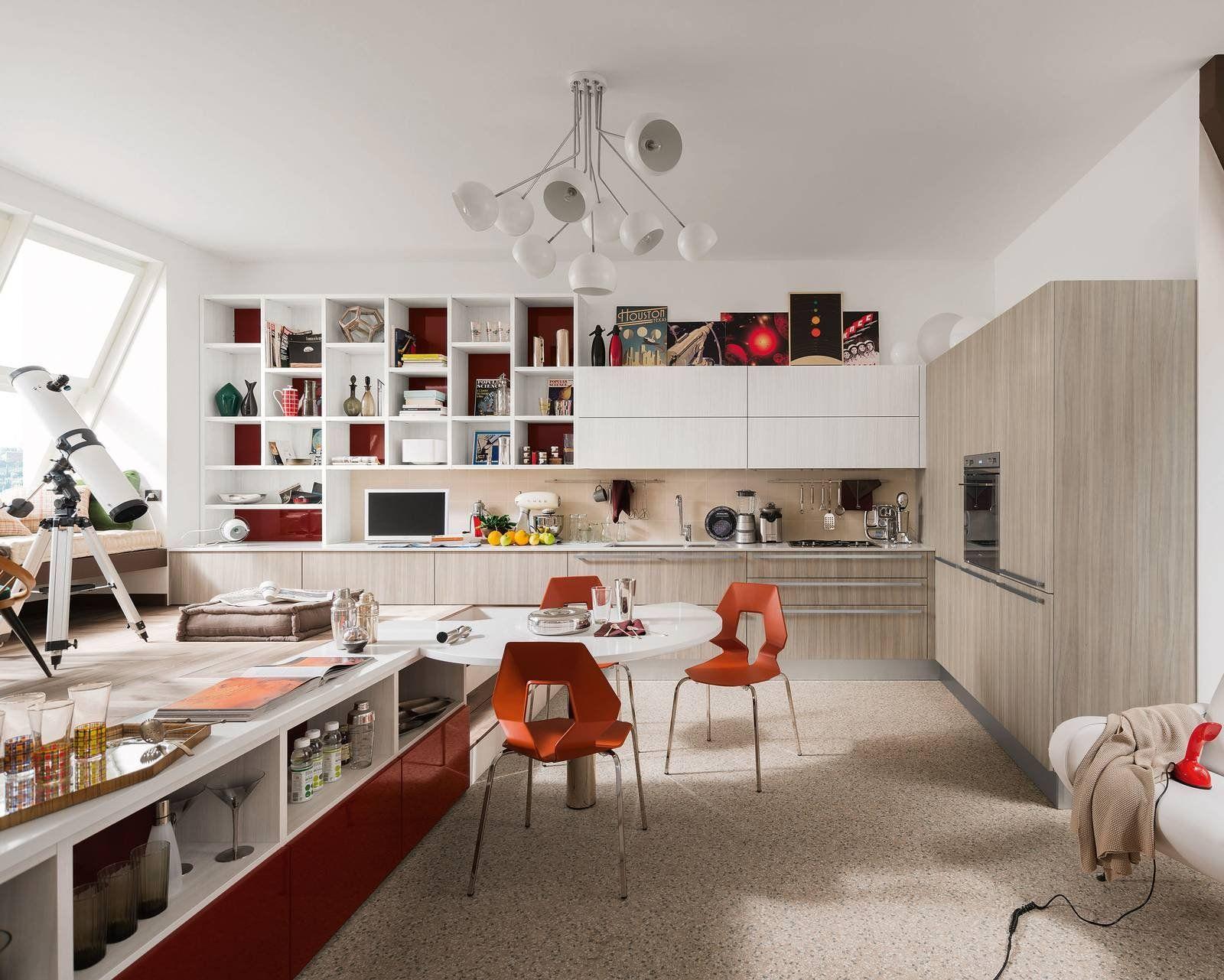 Carrera Plus di Veneta Cucine è la cucina con i vani a giorno che ...