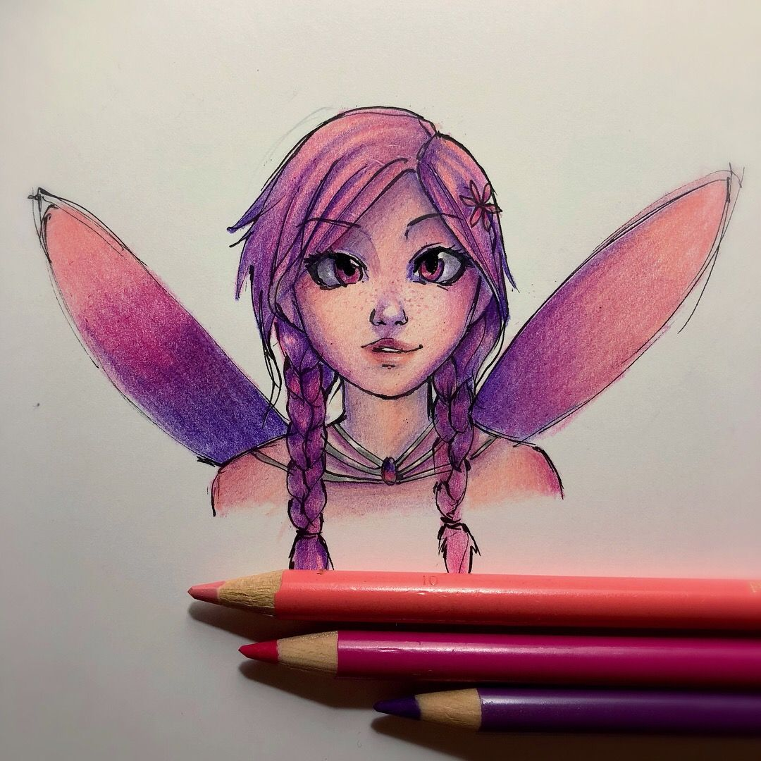 Some Drawing Practise With Colored Pencils