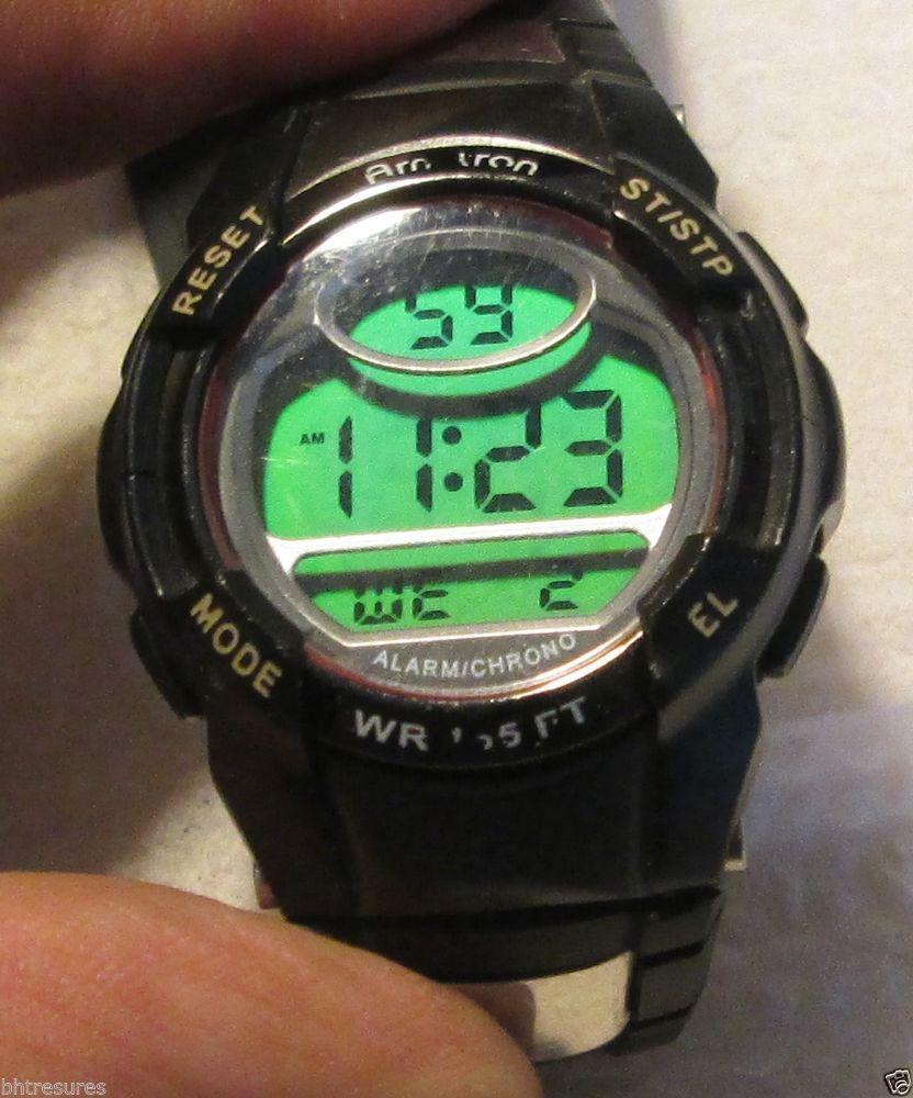 Armitron Sport Unisex 45/6975RED Chronograph Black Digital