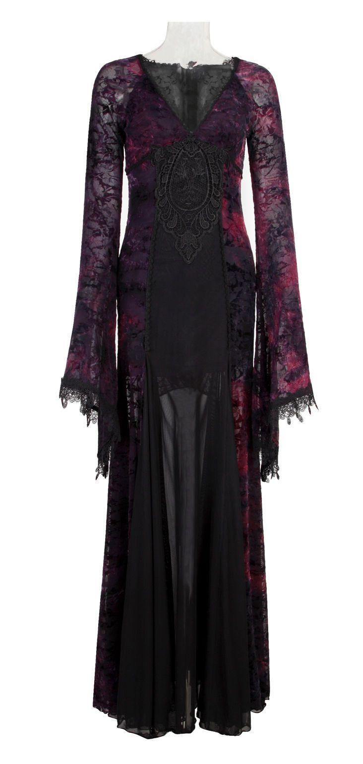 New Gothic Victorian Arwen Long Dress Retro Maxi Vampire Kera Lolita Clothing Q6 | eBay