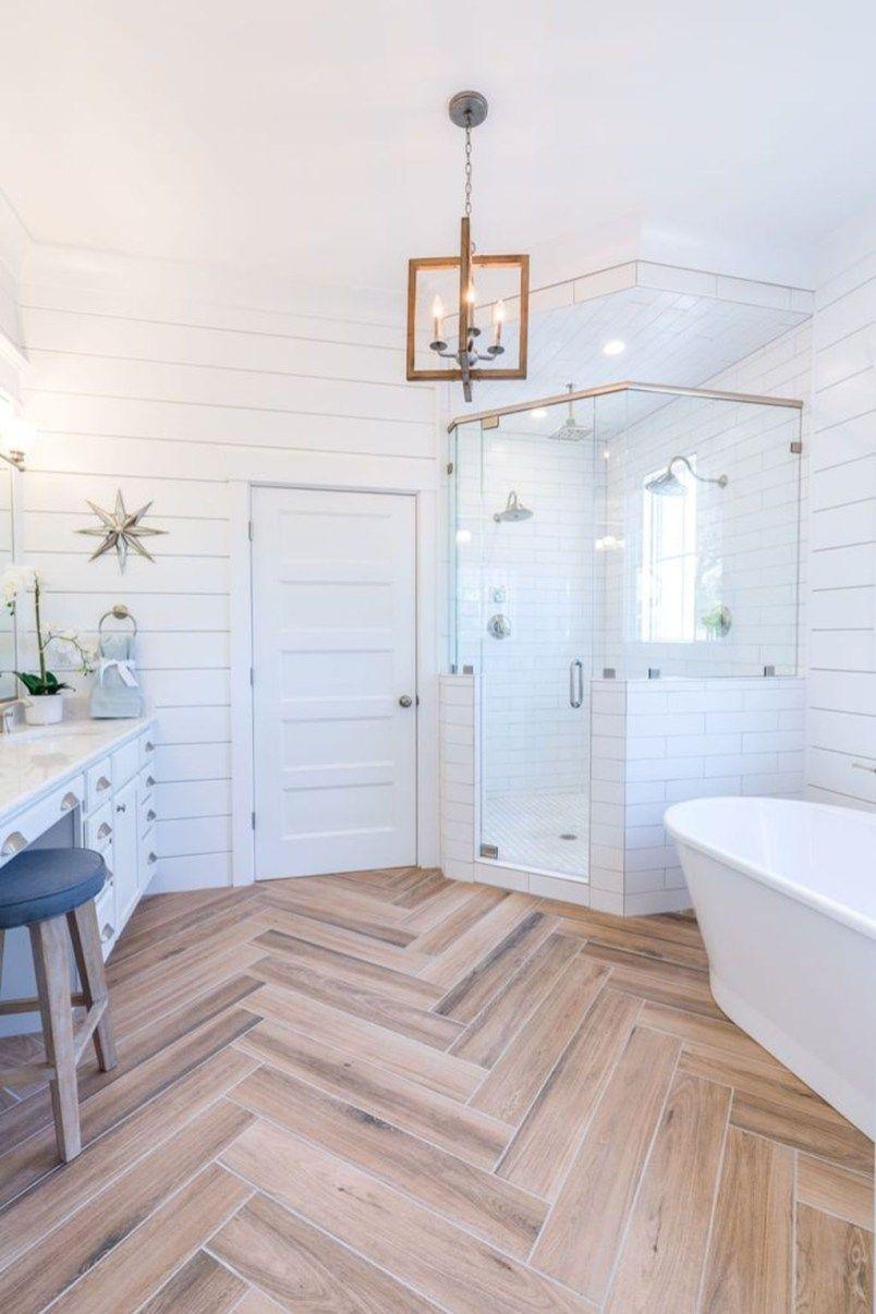 43 Gorgeous Wood Tile Bathroom Design Ideas | Bathroom designs ...