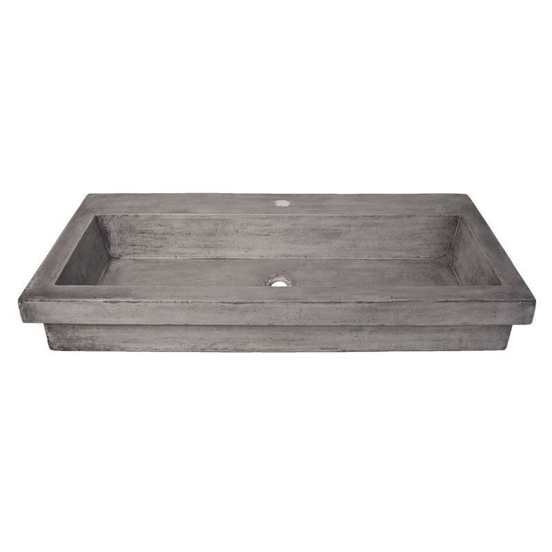 "View the Native Trails NSL3619 Trough 36"" NativeStone Drop In Bathroom Sink with 1 Hole Drilled at FaucetDirect.com."
