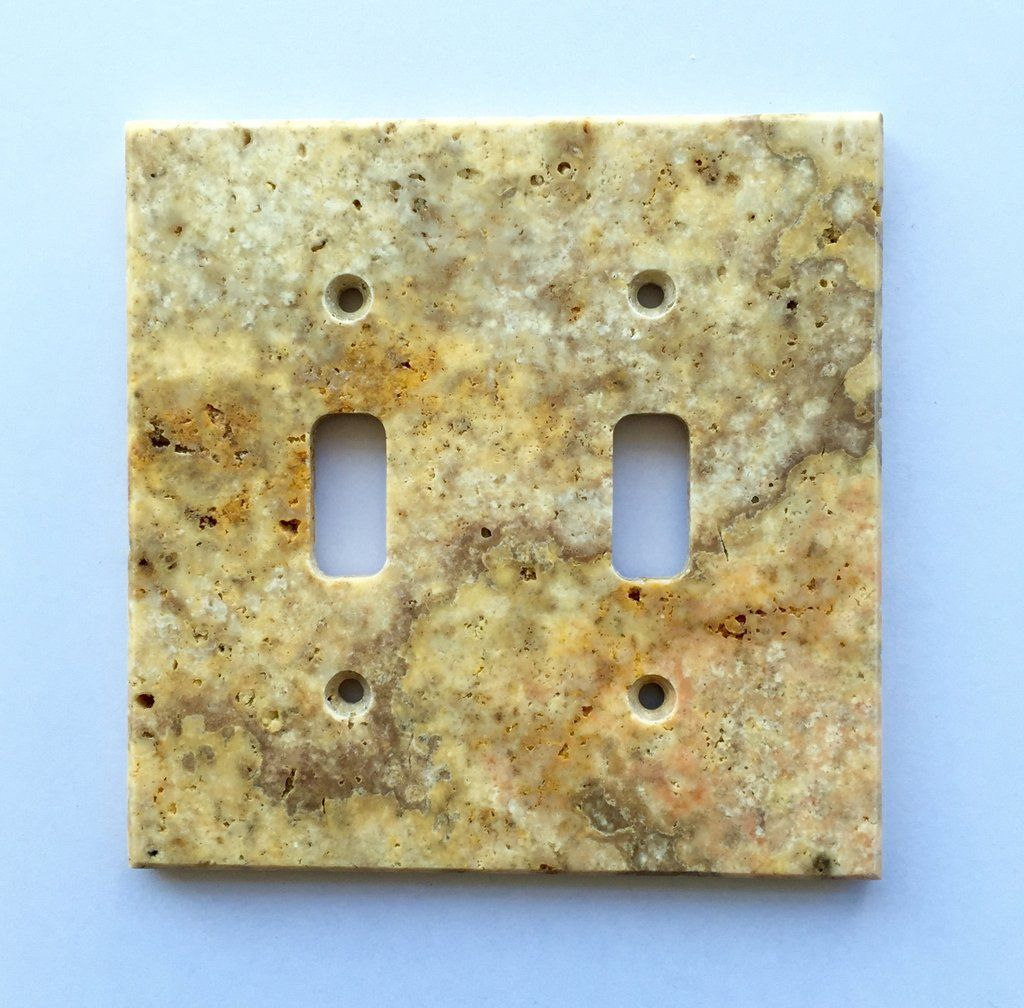 Scabos Travertine Double Toggle Switch Wall Plate / Switch Plate ...