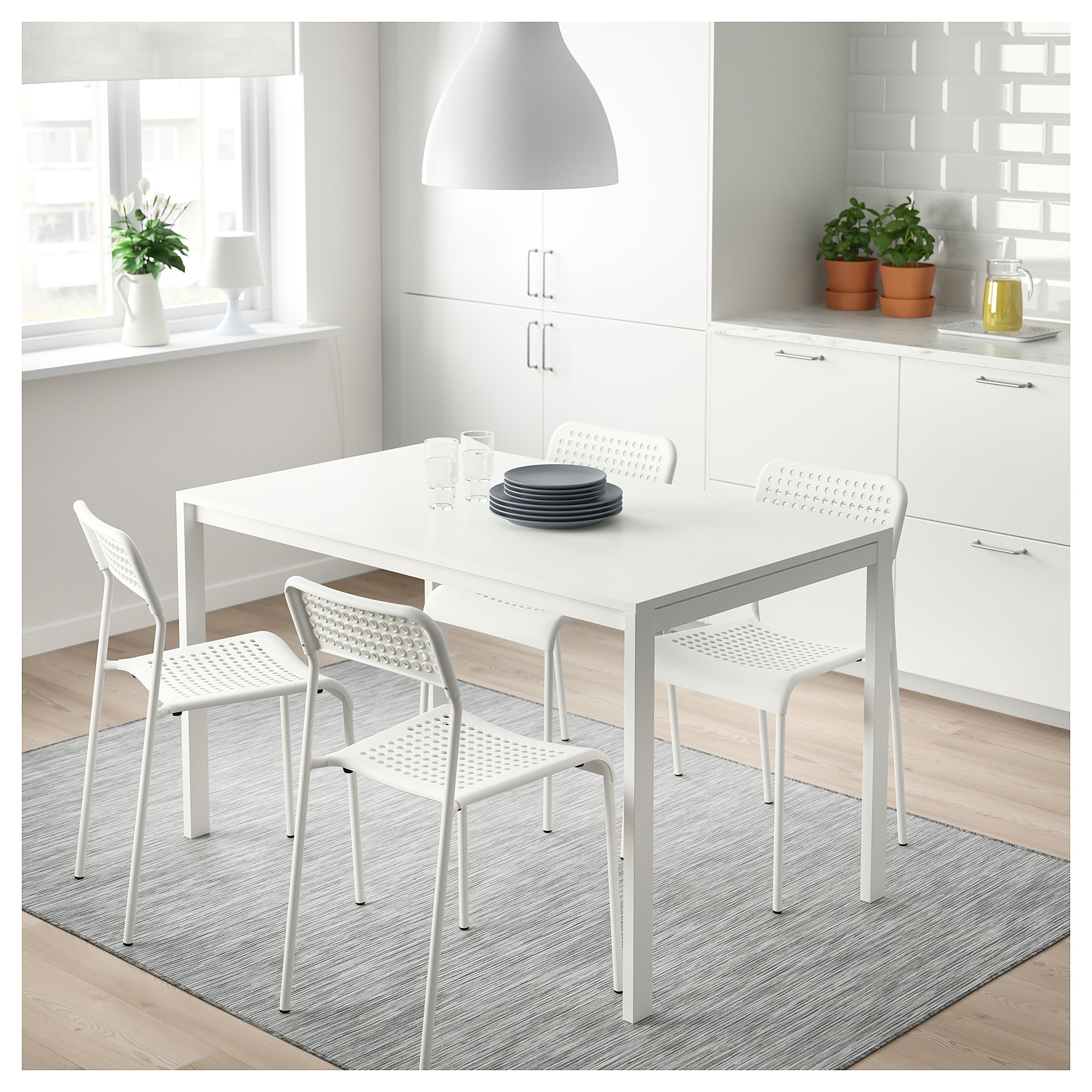 ADDE Chair white IKEA Small dining table, Dining
