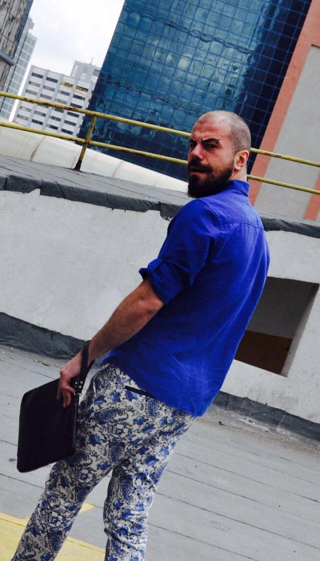 pants; zara man, shirt; massimo dutty, portfolio bag; zara man, chukka boots; zara man