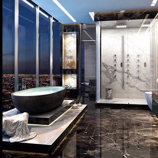 "Customers Always Ask ""can We Mix Materials"" Yes  Our Favorite Captivating Luxurious Bathroom Decorating Design"