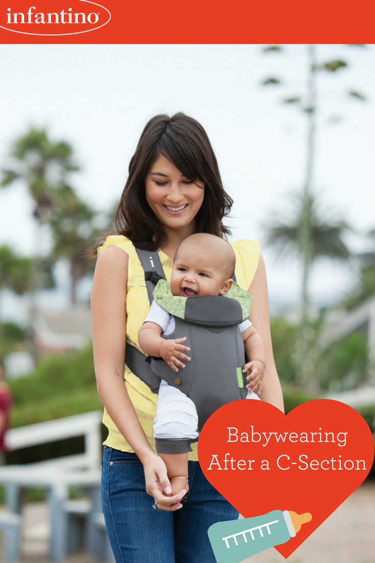 How To Safely Wear Your Baby After a C-Section | C section ...