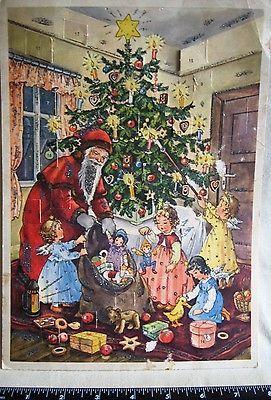 Antique German Cardboard Advent Calendar AFKH 1927