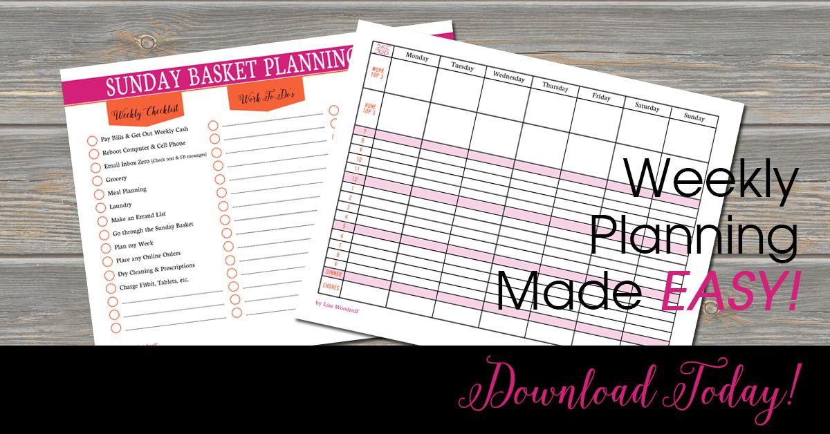 Get The Mindset Of Organization On Amazon Let S Get Organized Step 1 Make A Sunday Basket Start Your S Paper Organization Organization Board Sunday Planning