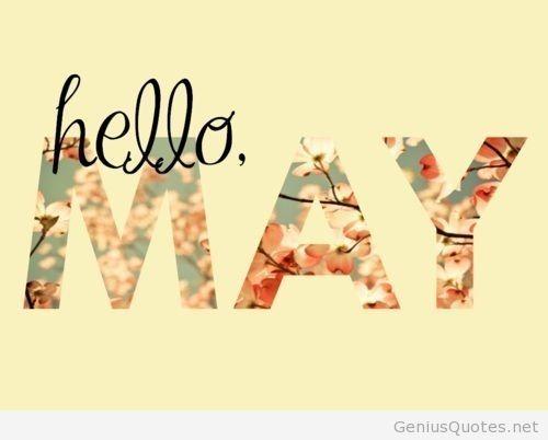 Cute Hello May Printable Calendar #03 - http://onlinecalendarweb.com/2014/04/cute-hello-may-printable-calendar-03/