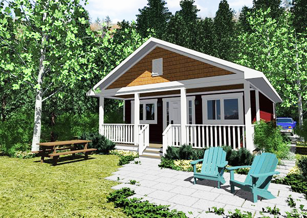 Plan 6782mg Tiny Cottage Home With Covered Front Porch Cottage Style House Plans Cabin House Plans House Plans