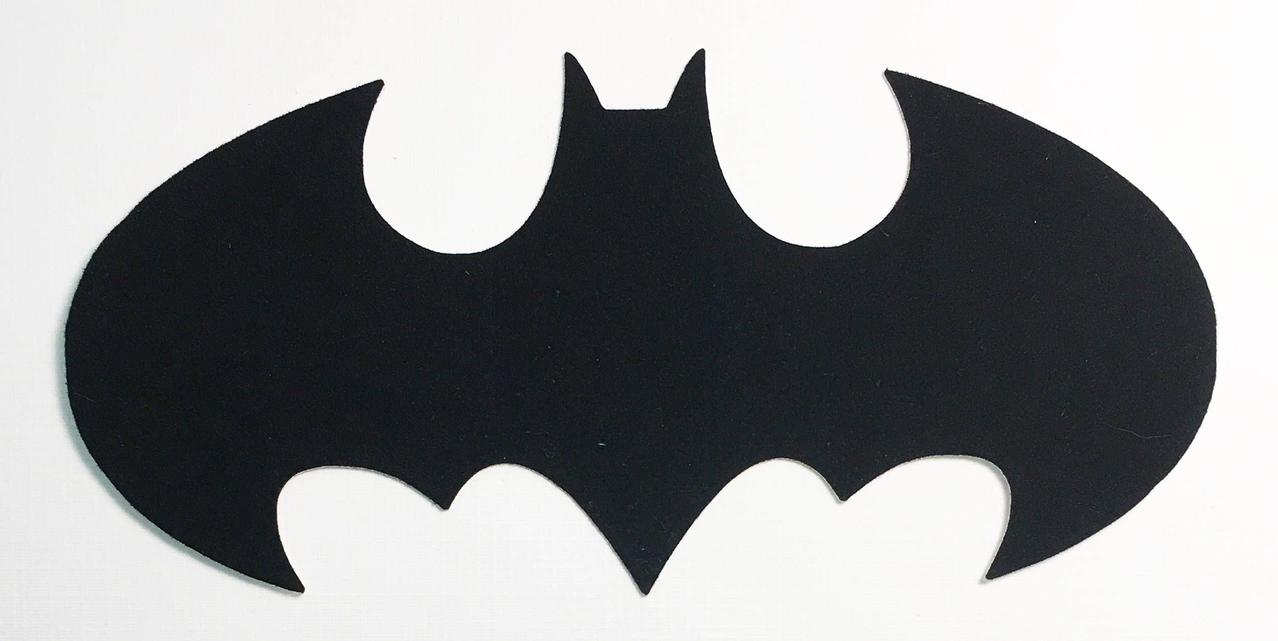 "bat batman die cut black velvet cardstock - 5-1/2"" size - halloween"