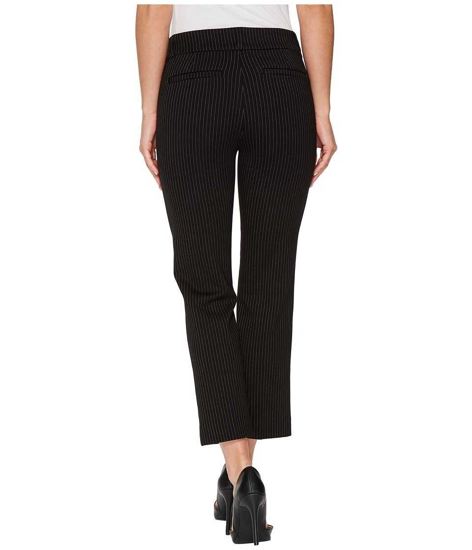 40886072dc84e Liverpool Vera Crop Flare Trousers with Welt Pockets in Mini Check Ponte  Knit Women's Casual Pants Black