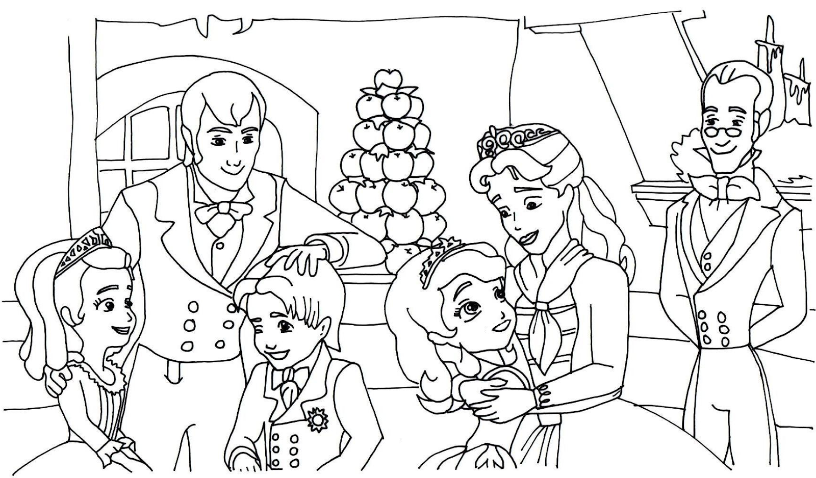 Free Sofia The First Coloring Page Coloring Pages Disney Coloring Pages Family Coloring Pages