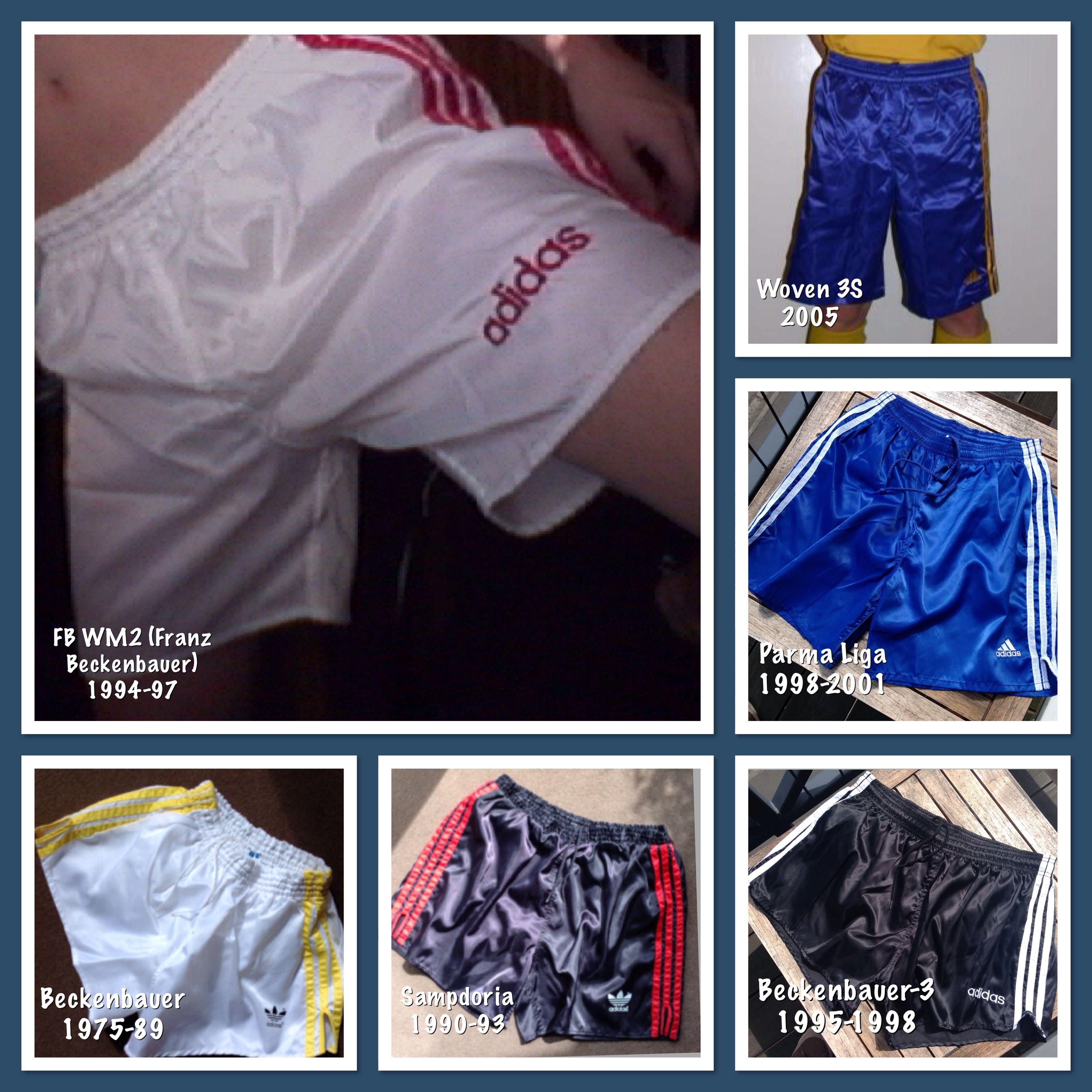 00bee45b77d History of Adidas shiny football shorts | Shiny Shorts | Gym men ...