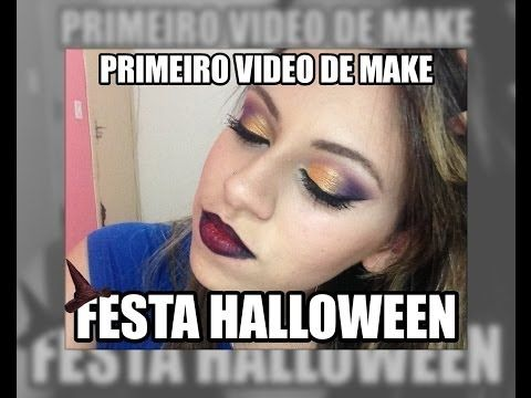 Maquiagem Simples Festa de Halloween - YouTube