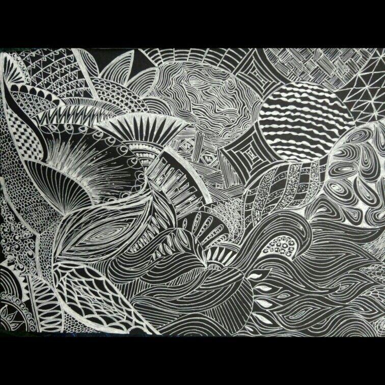 #blackandwhite #zentangle #zendoodle #doodle #adityam