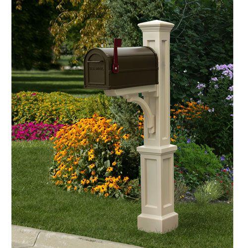 Mayne Newport Plus Clay Mailbox Post