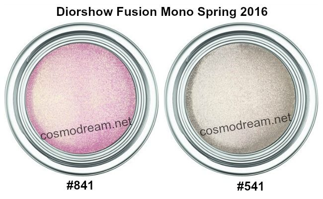 Кремовые тени Diorshow Fusion Mono spring 2016 841 Rose 541 Equinox