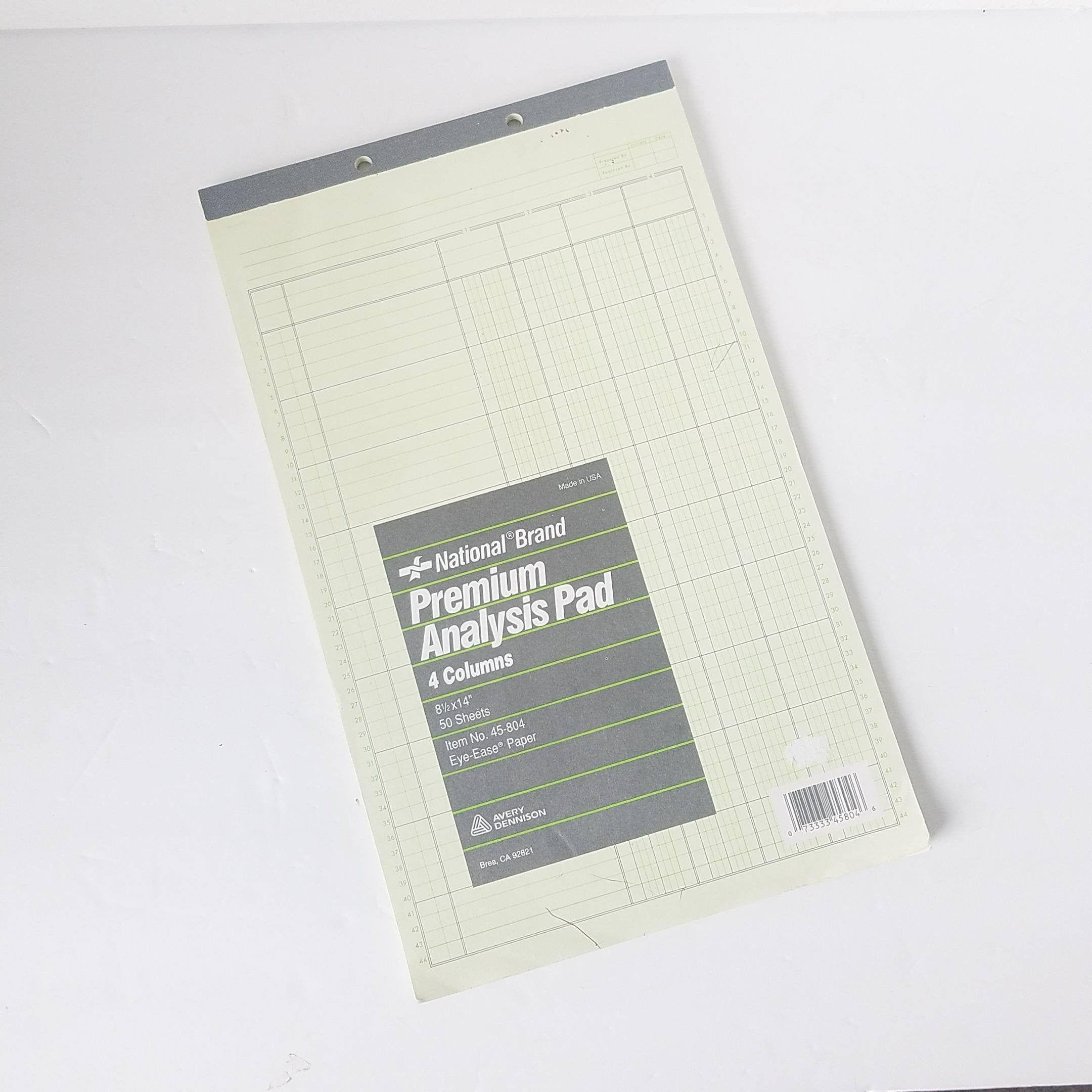 Vintage Analysis Pad Eye Ease National Junk Journal Old Paper Etsy In 2020 Old Paper Planner Vintage Junk Journal