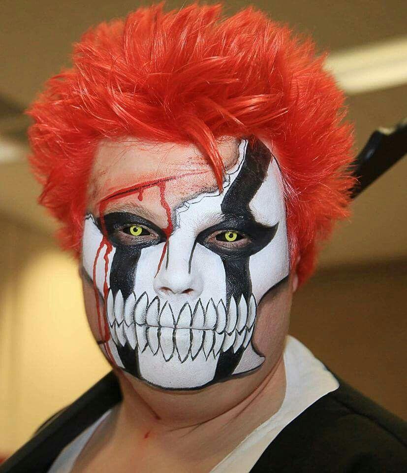 Bleach Ichigo Hollow Mask Face Paint Cosplay Mask Face Paint Ichigo Cosplay Face
