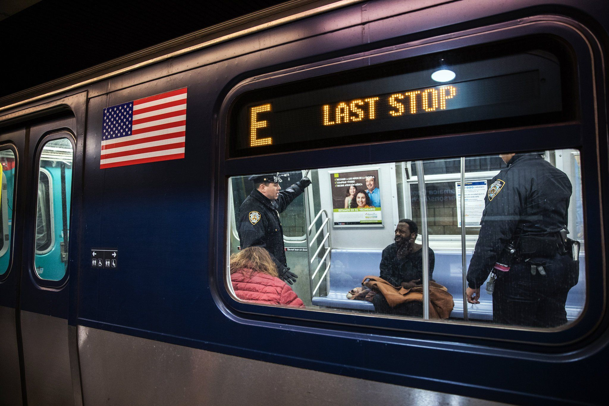 As Homeless Take Refuge In Subway More Officers Are Sent To Help Published 2018 New York Subway Homeless Subway